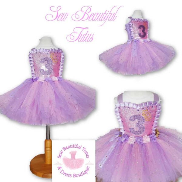 Pink & Lavender Birthday Sparkle Tutu Dress