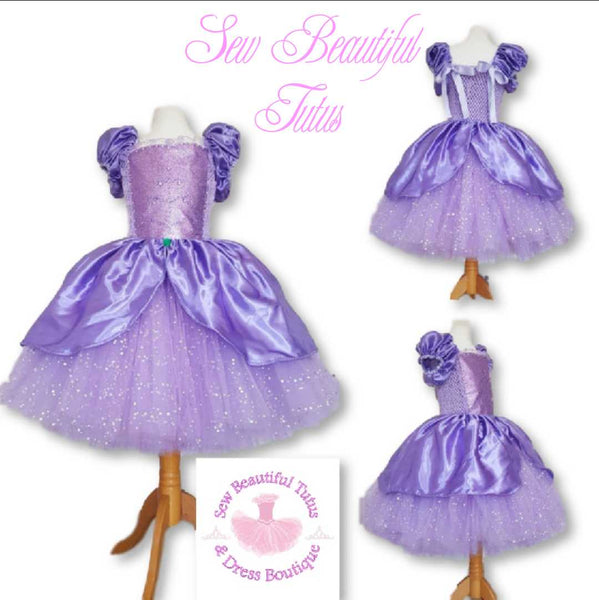 Available Now - Shimmer inspired sparkle tutu dress with satin overlay Age 8-9yrs