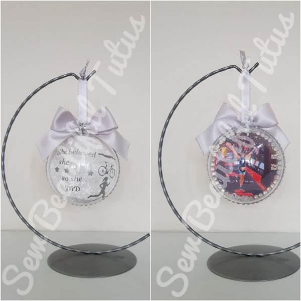 Commemorative Bauble - Triathlon/Iron Man - She believed she could