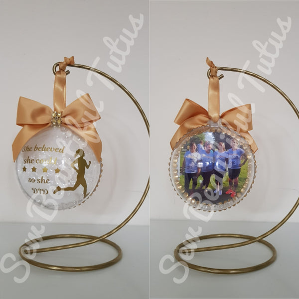 Commemorative Bauble - Running - She believed she could