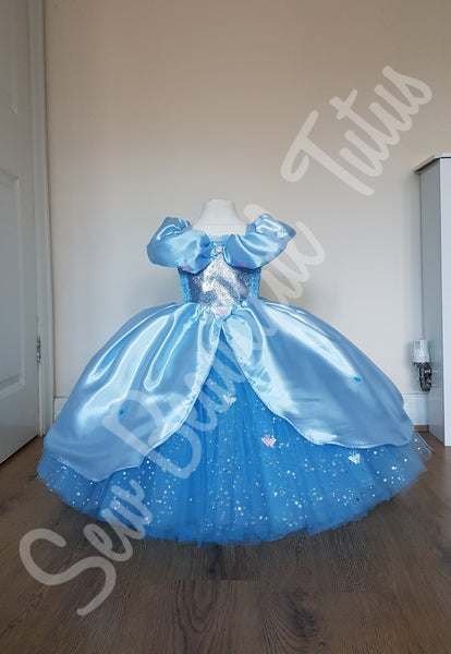 Cinderella inspired Sparkle Ballgown with satin overlay (butterfly)