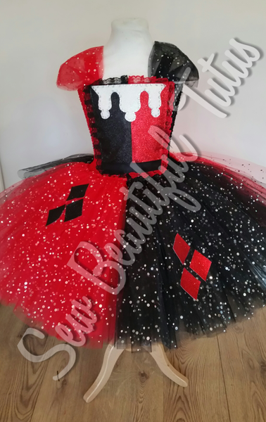 Harley Quinn inspired Sparkle Tutu Dress