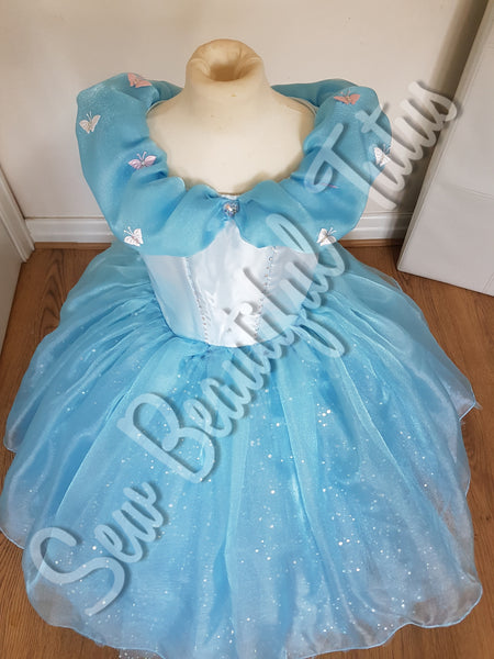 Available Now - Cinderella sparkle ballgown with organza overlay Age 6yrs