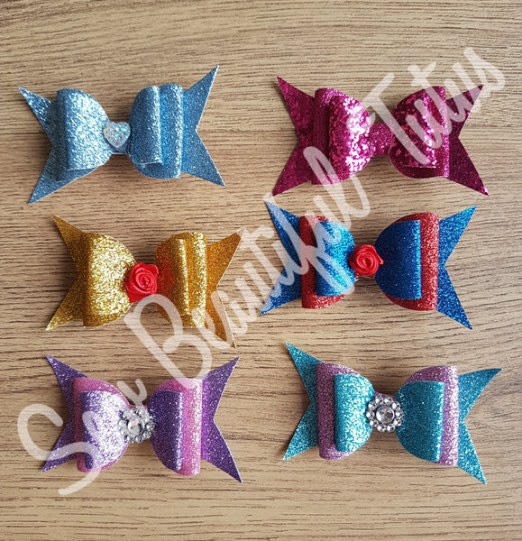 Available Now - Box of 6 glitter bows