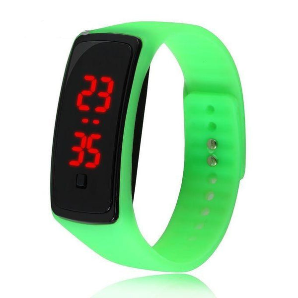 Montre LED en silicone