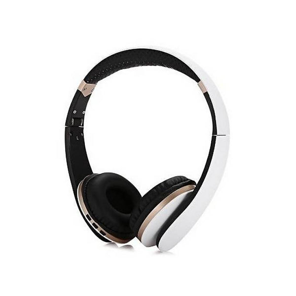 Casque bluetooth BT-023  Blanc / Doré