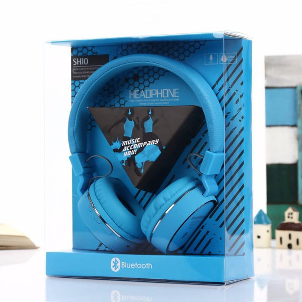 Casque bluetooth SH 10 bleu