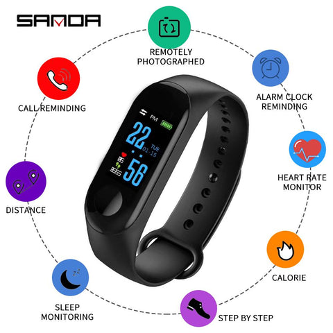SANDA M3  Smart Watch Bluetooth Montres De Sport