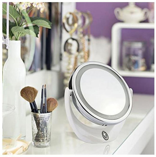 miroir de maquillage led double face boas