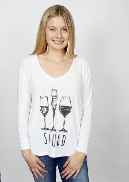 The 'Grayson' Sweatshirt - Wine Squad
