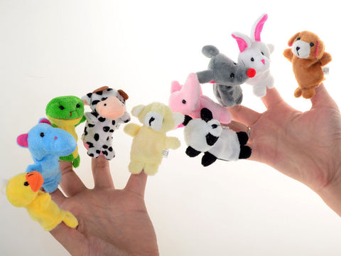 10PCS Farm Zoo Animal Finger Puppets