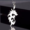 Silver Jewelry Necklace - dragon