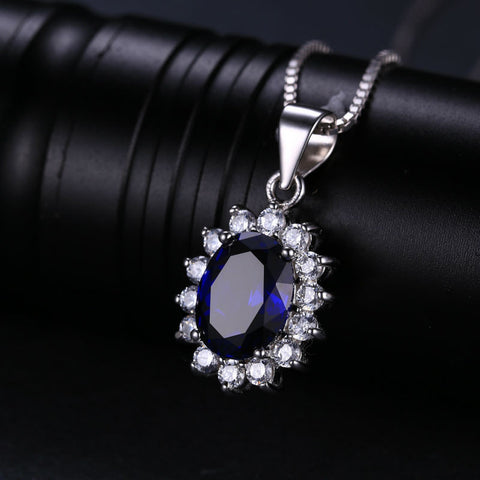 Blue Pendant Sterling Silver