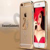 Gold Plating Grid Skin Case For Iphone