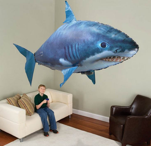 Flying Remote Control Inflatable Fish Shark Blimp Balloon