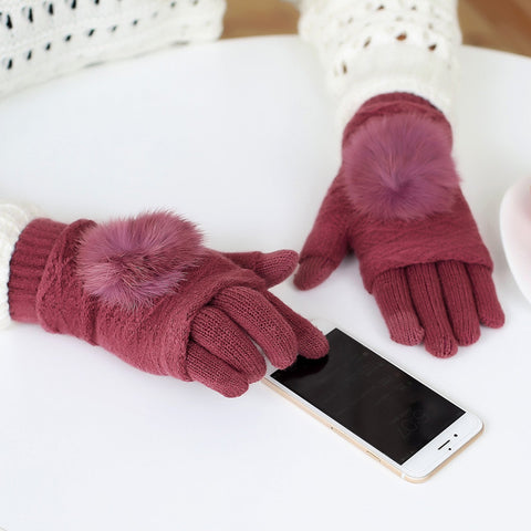 Touch Screen Gloves Warm Double layer