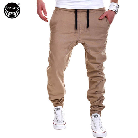 Trousers Men Pants Casual Solid Pants
