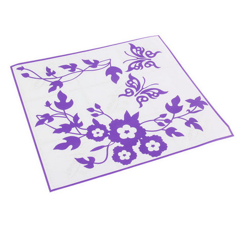Butterfly Flower Bathroom Stickers for toilet