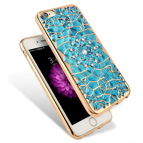 Luxury Bling Crystal Diamond Cover Cases For iPhone 7 / 7 Plus