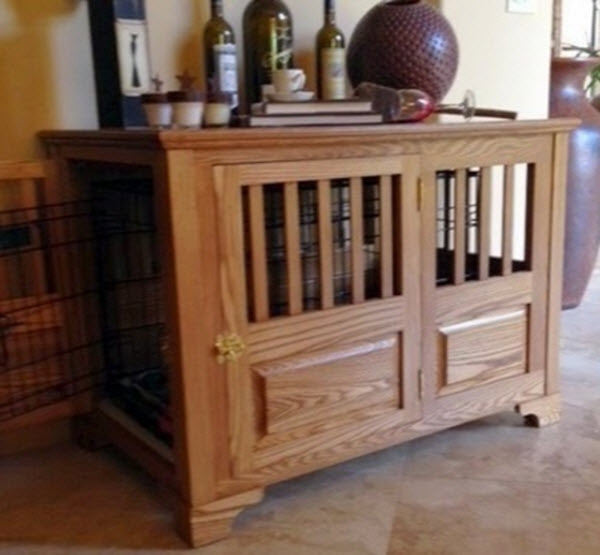 decorator custom built solid ash luxury furniture style dog crate left side opening furniture style dog crates
