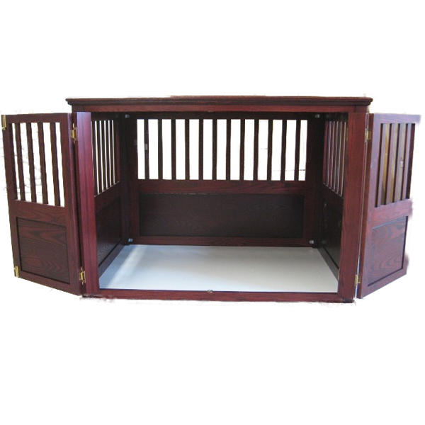 decorator custom built solid ash luxury furniture style dog crate french doors opening furniture style dog crates