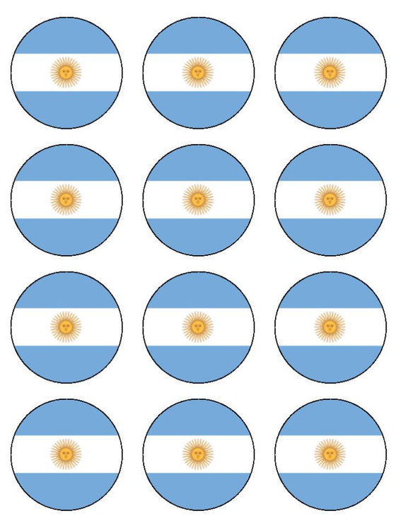 Argentina Edible Cake & Cupcake Toppers