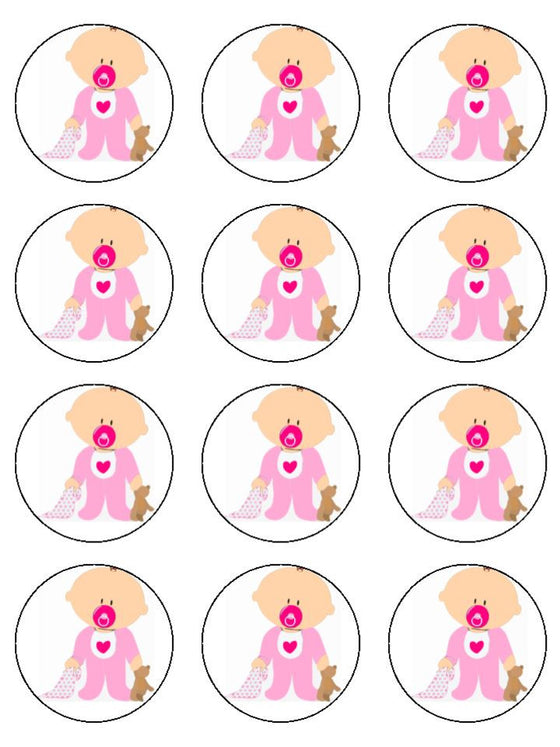 Girl and Dummy Edible Cake & Cupcake Toppers
