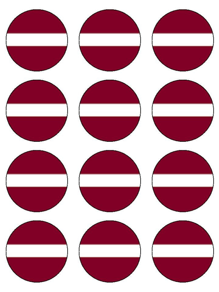 Latvia Edible Cake & Cupcake Toppers