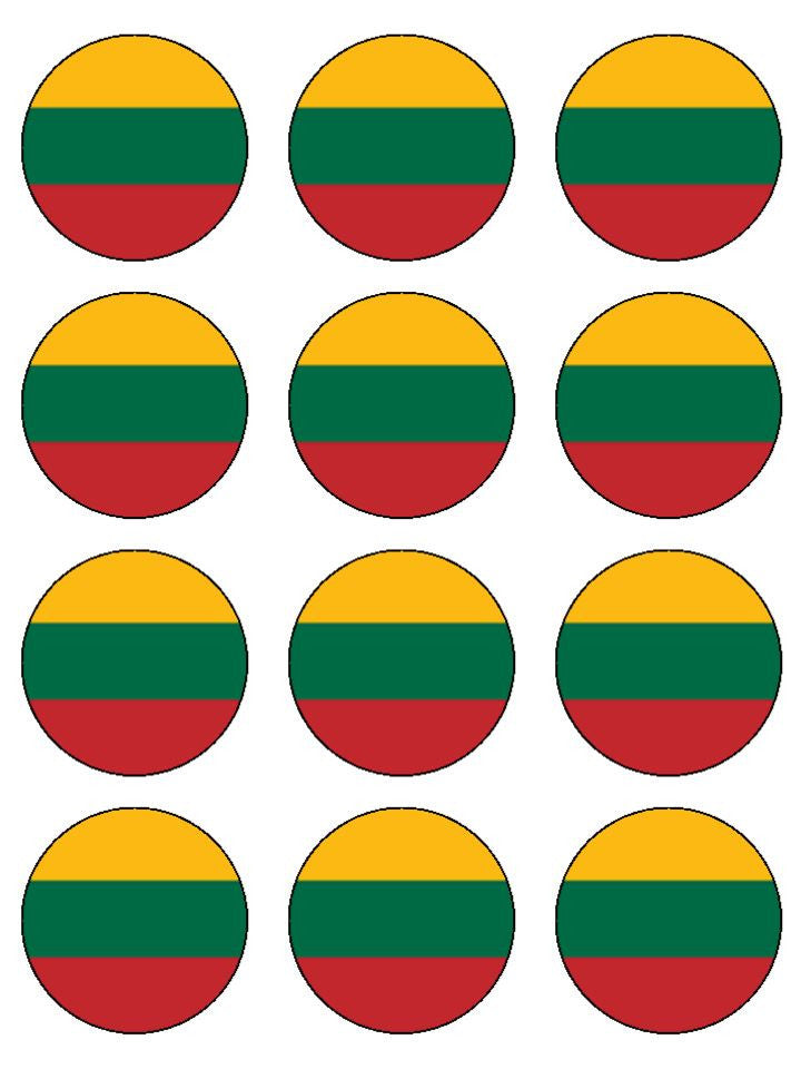 Lithuania Edible Cake & Cupcake Toppers