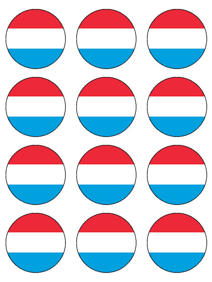 Luxembourg Edible Cake & Cupcake Toppers