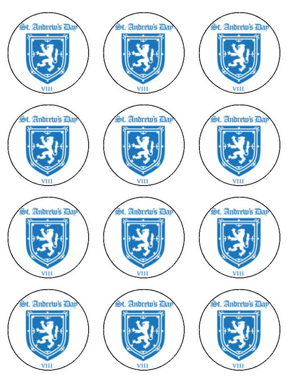 St Andrew's Day Badge Edible Cake & Cupcake Toppers