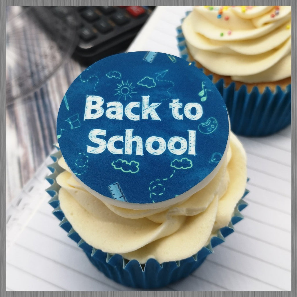 Back to school design 2 - edible cake/cupcake toppers