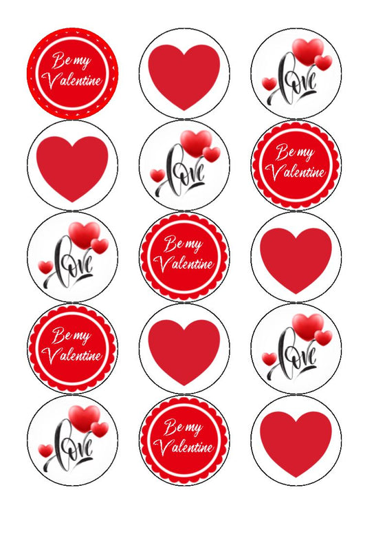 NEW!!  LOVE - cupcake toppers