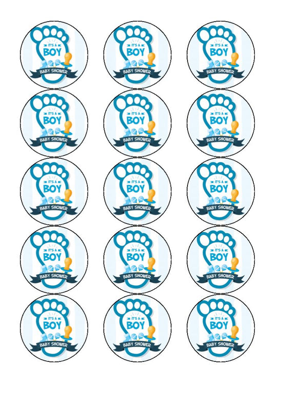 It's a boy - cake/cupcake toppers