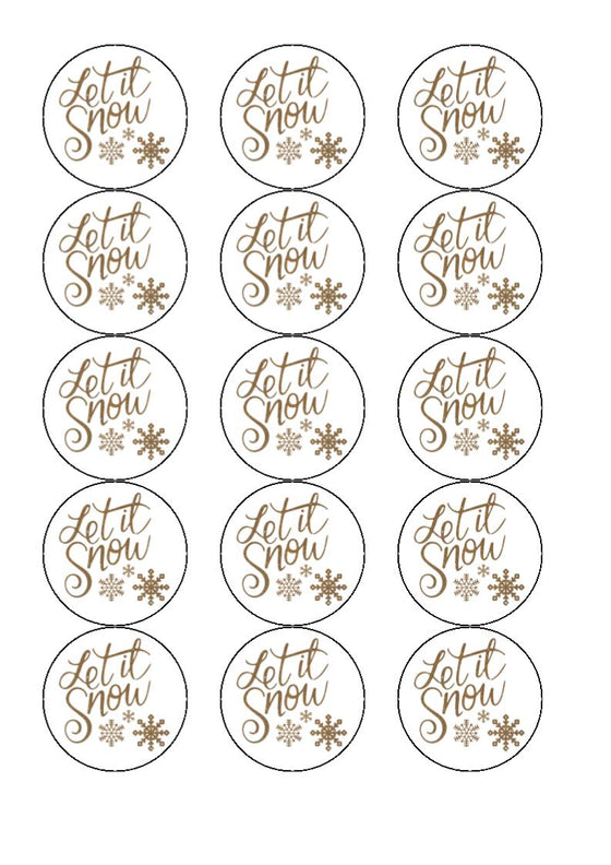 Let it Snow - cupcake toppers