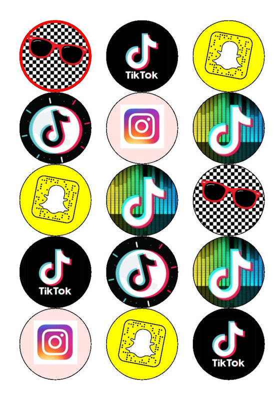 TikTok - Mix -  edible cupcake toppers