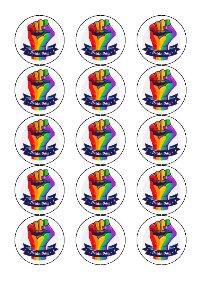 Pride - Design 3 - edible cupcake toppers