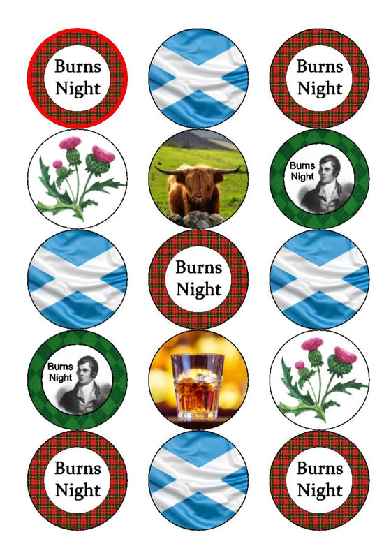 NEW!! Burns Night - Cupcake Toppers