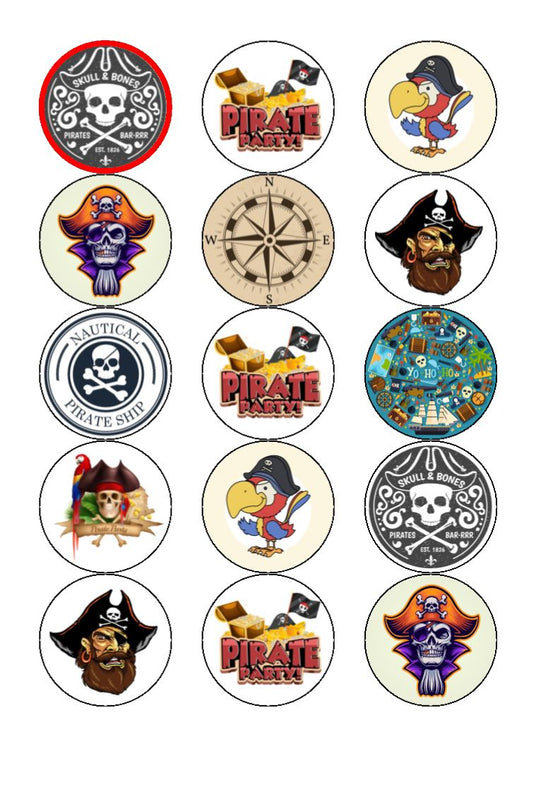 Pirate -  Edible Cake/Cupcake Toppers