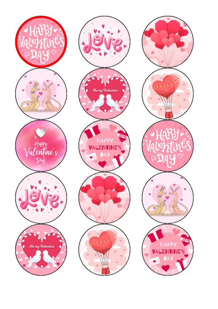 Valentine Mix Cupcake Toppers
