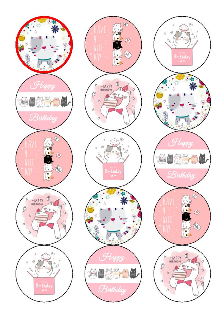 NEW!! Cute Cat edible cake/cupcake toppers