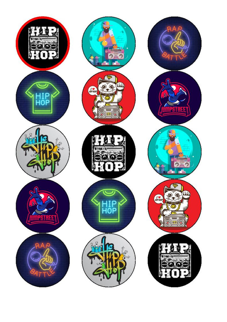 Hip Hop -  edible cupcake toppers