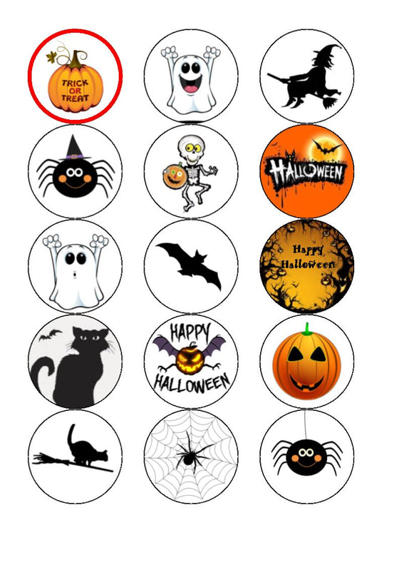 Halloween Mix  Edible Cake & Cupcake Toppers
