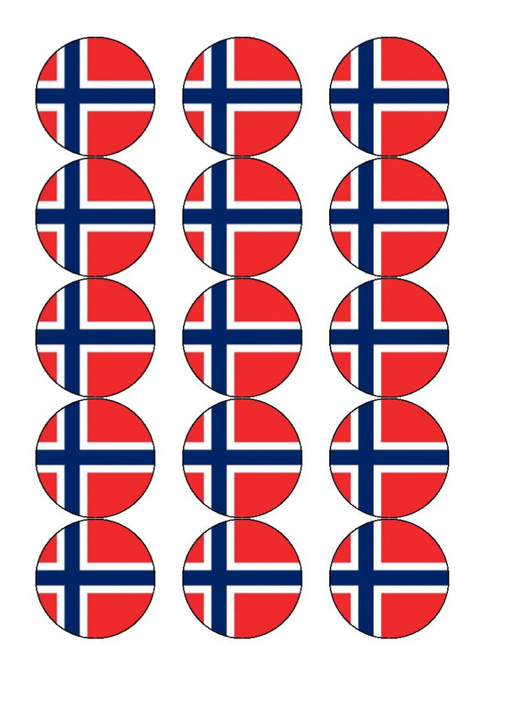 Norway Edible Cake & Cupcake Toppers