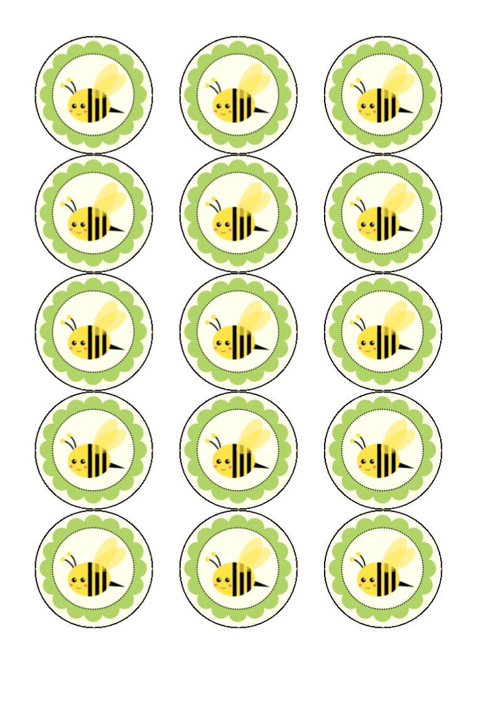 Buzzy Bee - edible cake/cupcake toppers