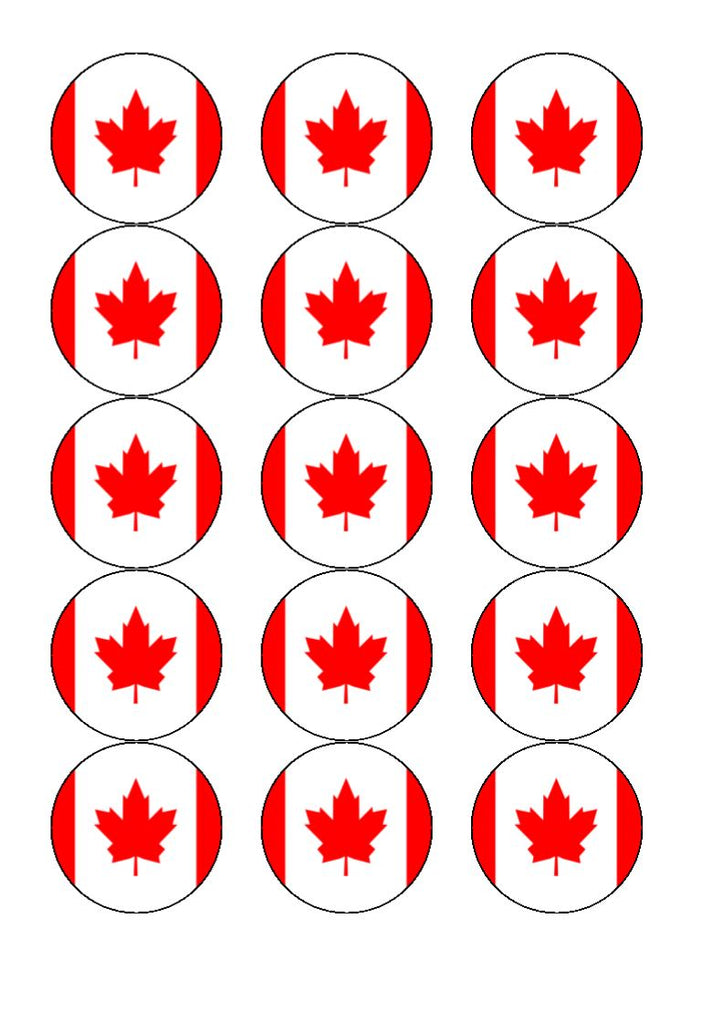 Canada Edible Cake & Cupcake Toppers