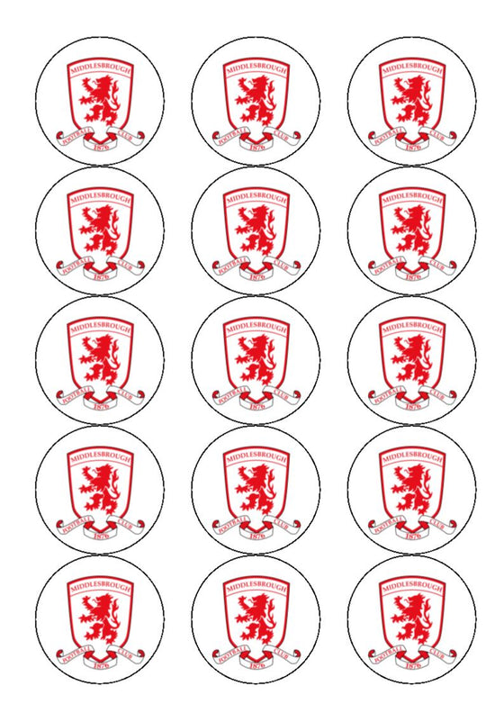 Middlesbrough FC Edible Cake & Cupcake Toppers