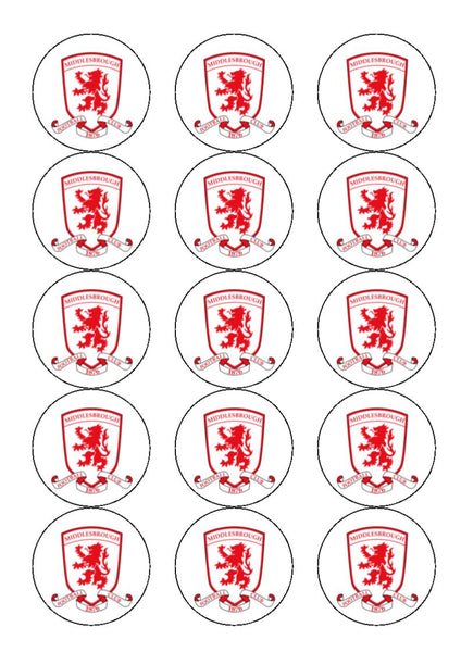 Middlesbrough Fc Edible Cake Amp Cupcake Toppers