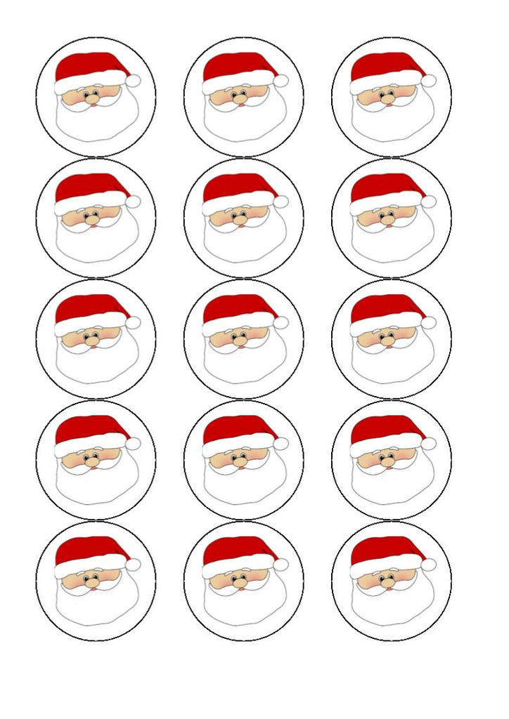 Santa Claus Cupcake and Cake Toppers