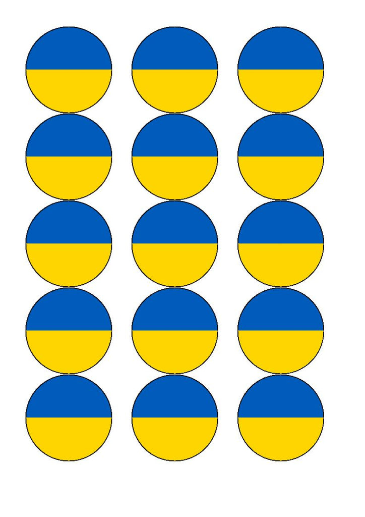 Ukraine Edible Cake & Cupcake Toppers